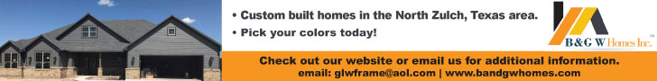 B&G W Homes Inc. Banner